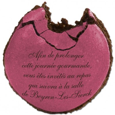 Carton d'invitation Macaron croqué