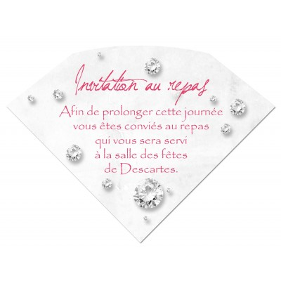 Carton d'invitation Diamant