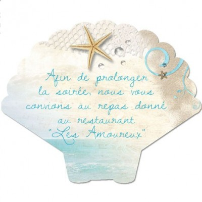 Carton d'invitation Coquillage
