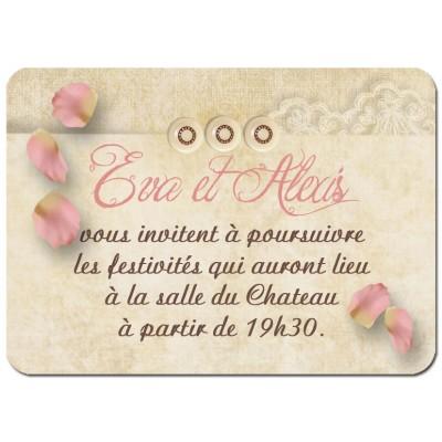 Carton d'invitation Rétro Romantique