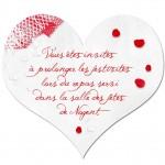 Carton d'invitation Coeur