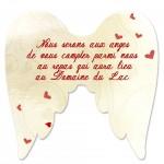 Carton d'invitation Aile d'Ange