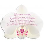 Carton d'invitation Orchidée