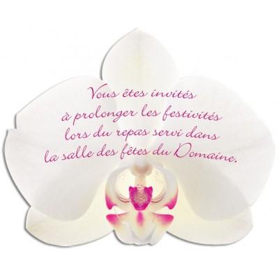 Carton d'invitation Orchidée Blanche