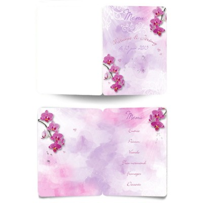 Menu Orchidées
