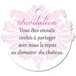 Carton d'invitation Baroque