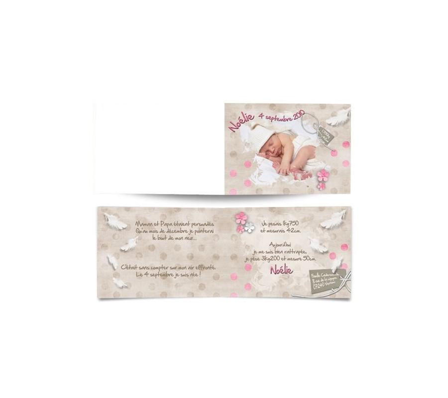 Exceptionnel Faire part de naissance prématurés EV63