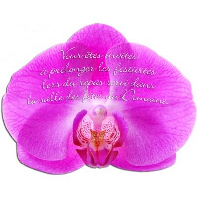 Carton d'invitation Orchidée Couleur