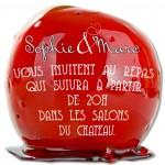 Carton d'invitation Pomme d'Amour