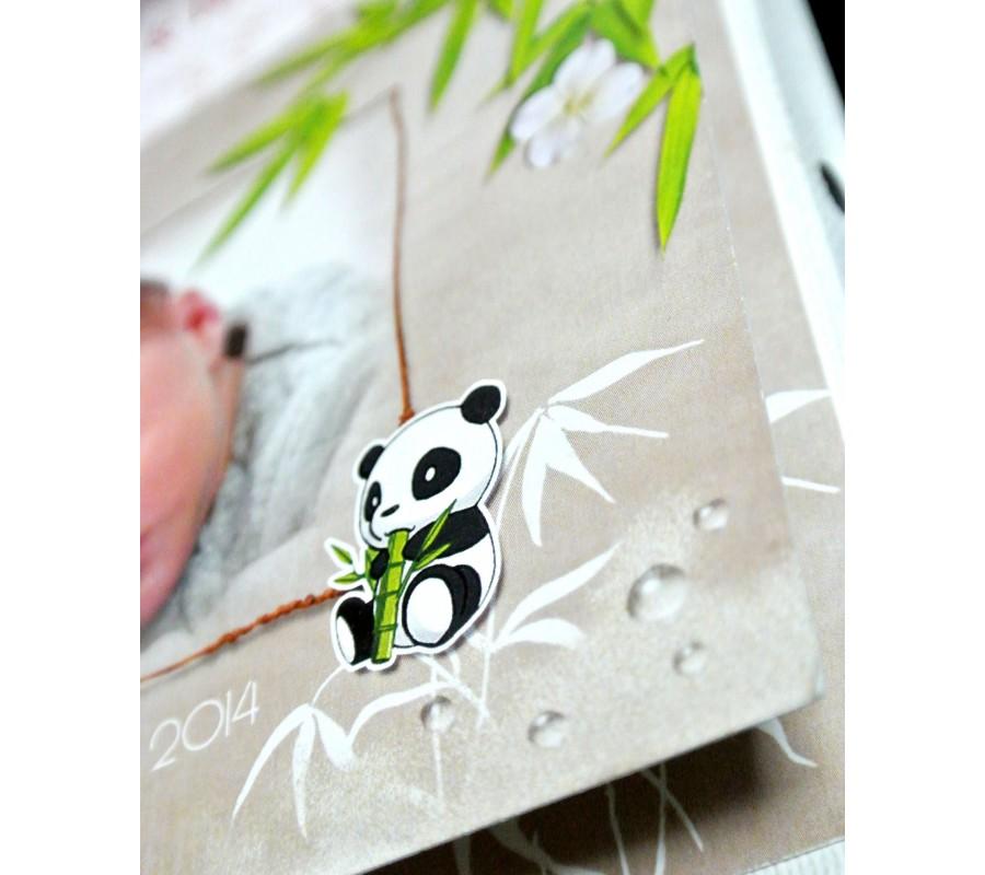 Super Faire-part Jumeaux Pandas - Creationata ND14