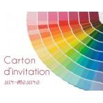 Carton d'invitation Sur Mesure