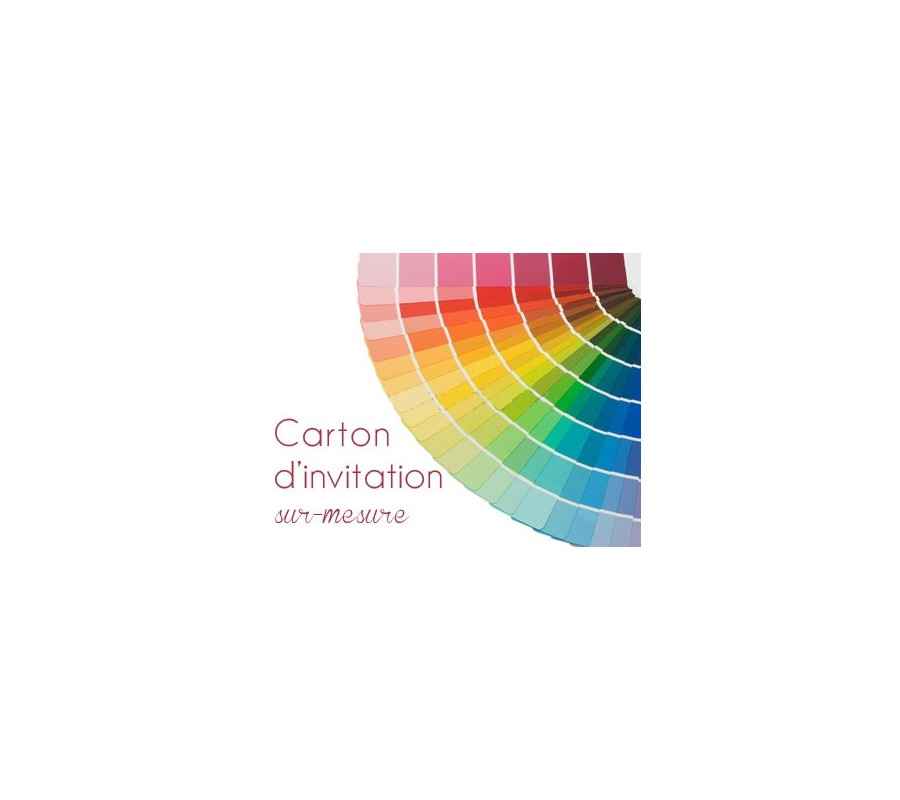 carton d 39 invitation sur mesure creationata. Black Bedroom Furniture Sets. Home Design Ideas