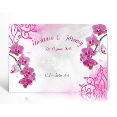 Livre d'or personnalisé Orchidées