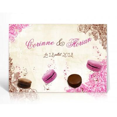 Livre d'or personnalisé Macaron