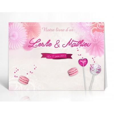 Livre d'or personnalisé Candy Bar