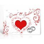 Livre d'or personnalisé Amour rouge