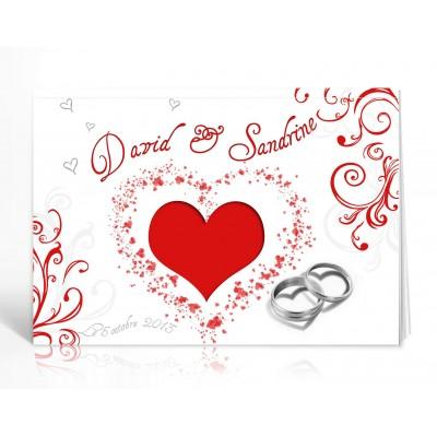 Livre d'or personnalisé Amour