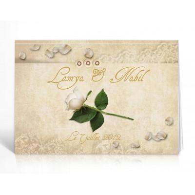Livre d'or personnalisé La Rose