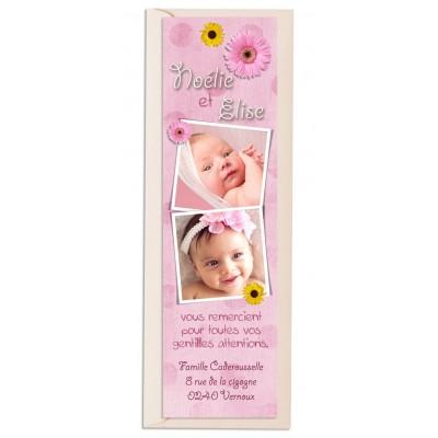 Marque-page Jumelles Petites fleurs