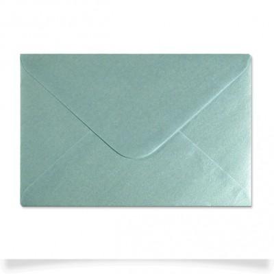 Enveloppe nacrée Bleu Ciel