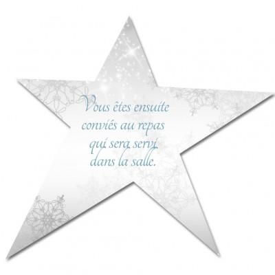 Carton d'invitation Etoile