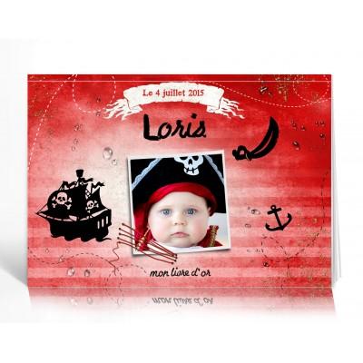 Livre d'or Personnalisé Pirate Rouge