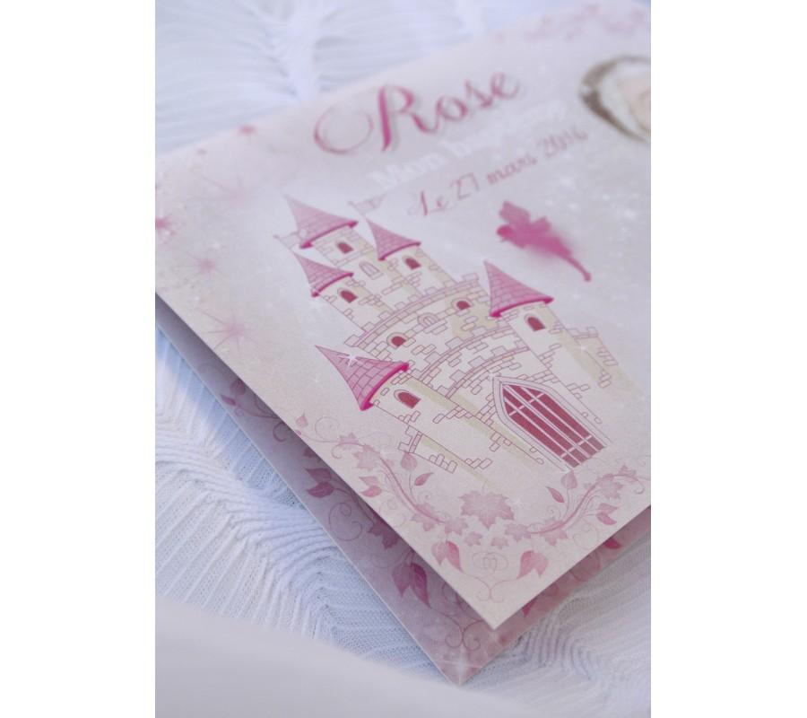 faire part de naissance lily rose f e princesse. Black Bedroom Furniture Sets. Home Design Ideas