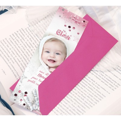 Marque-page Flocons fille