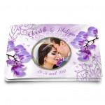 Faire-part mariage Orchidée parme