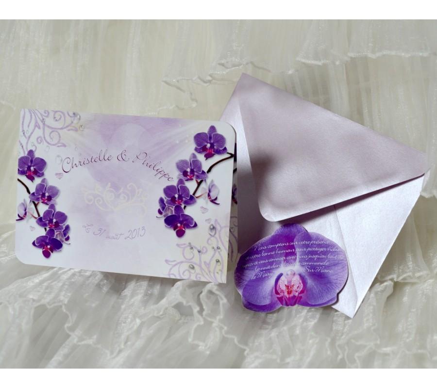 faire part orchide 2 - Faire Part Mariage Orchide