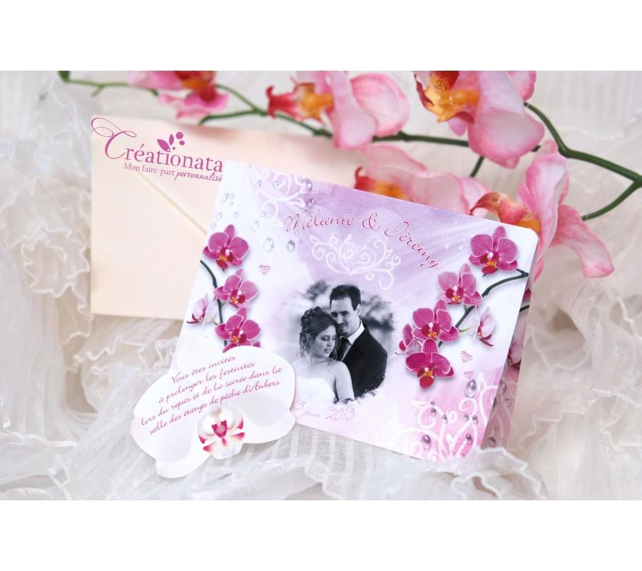 Bekannt Faire part mariage Orchidée OD39