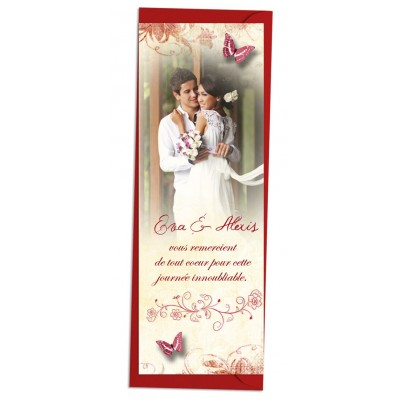 Marque-page Papillons Romantique