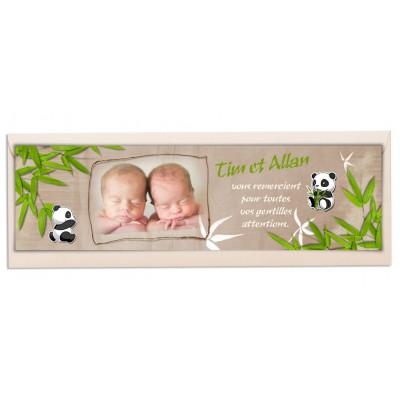 Marque-page Jumeaux Pandas