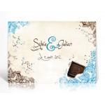 Livre d'or personnalisé Choco turquoise