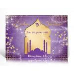 Livre d'or personnalisé Parfum d'Orient violet or