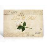 Livre d'or personnalisé La Rose blanc et or
