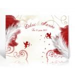 Livre d'or personnalisé Anges rouge