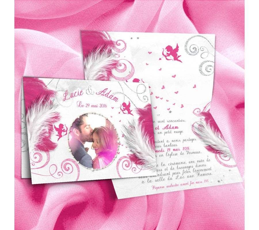 Extraordinaire Faire part mariage Anges XI42